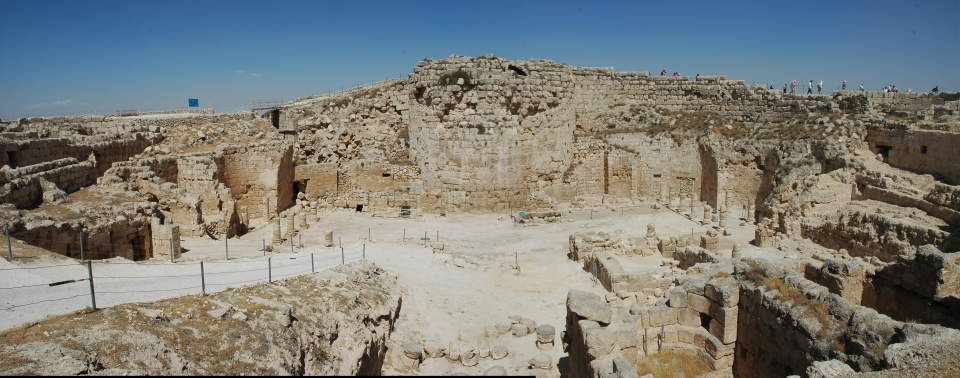 herodium mountain top palace fortress panorama