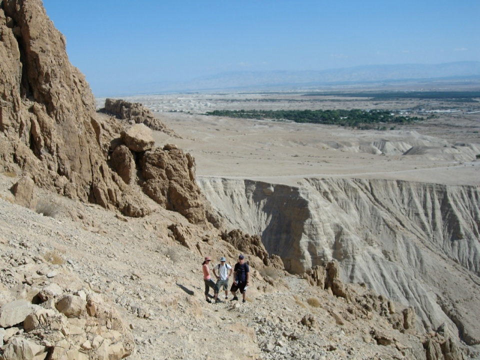 Hiking at Qumran