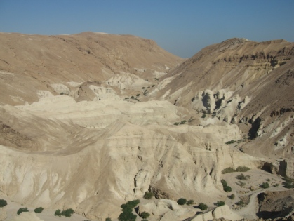 View of Nahal Zohar and where we started our hike