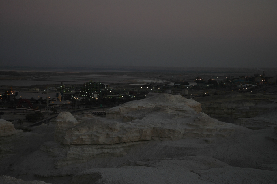 Nightfall at Dead Sea Works