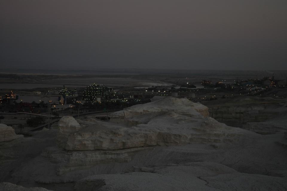 Nightfall at Dead Sea Works