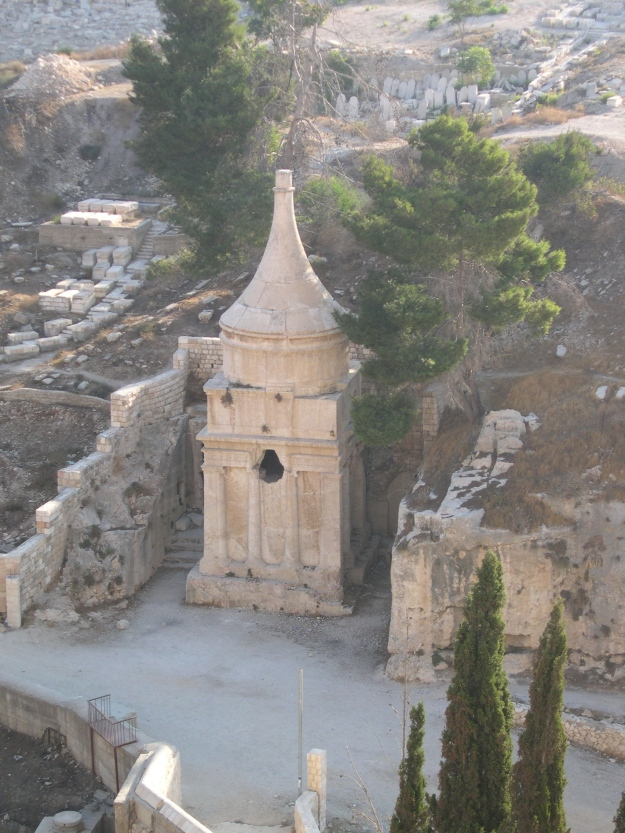 Yad Avshaom, tomb from Second Temple period in the Kidron valley, Jerusalem