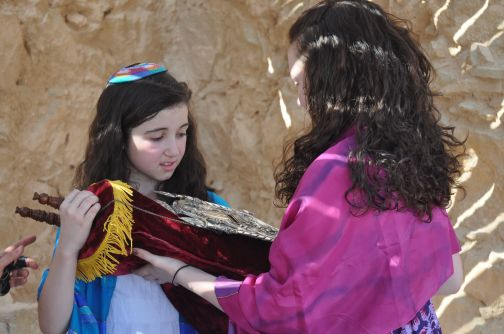 Rachel taking the Torah