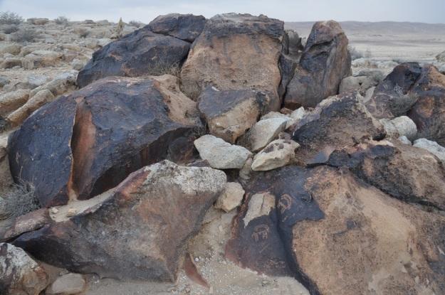 Ibex rock drawings