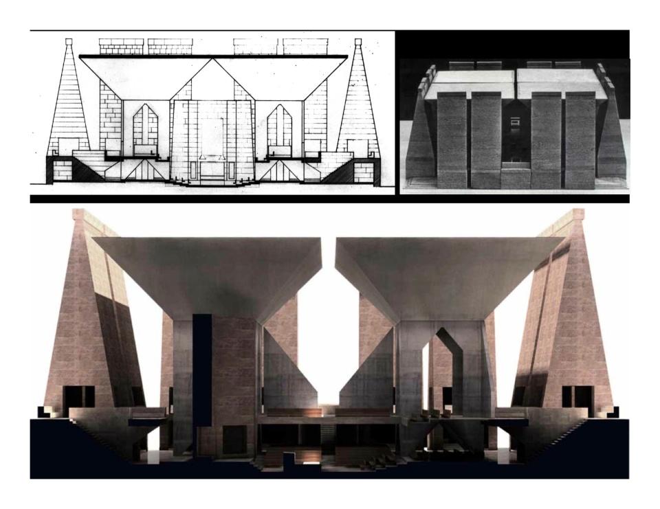 Kahn model Hurva Synagogue, from Kent Larson