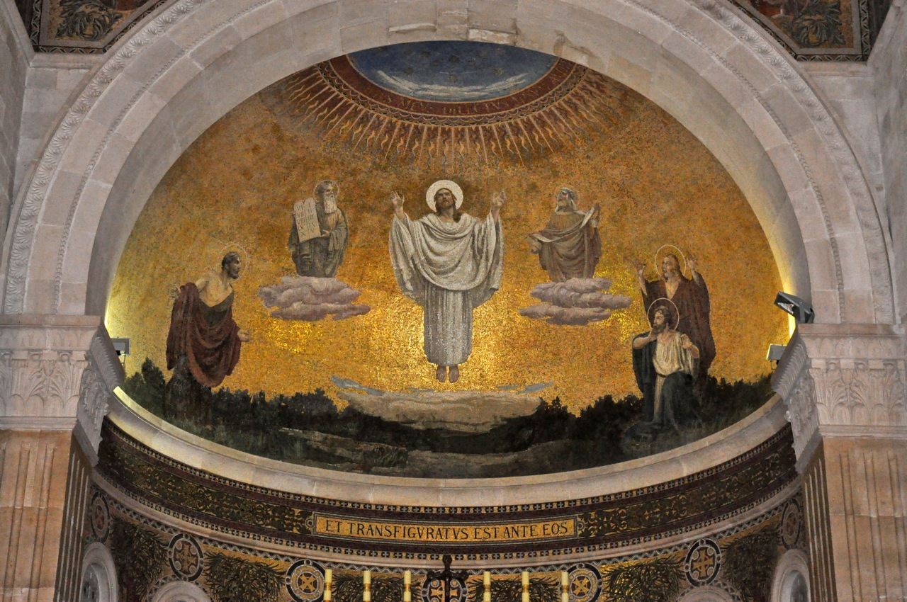 Image result for transfiguration mural mount tabor