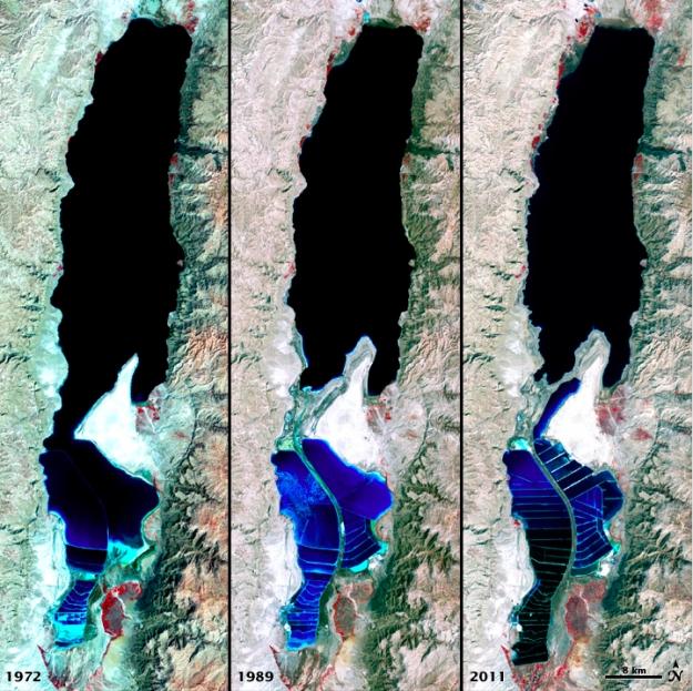 Dead Sea Shrinking (1972, 1989, 2011)