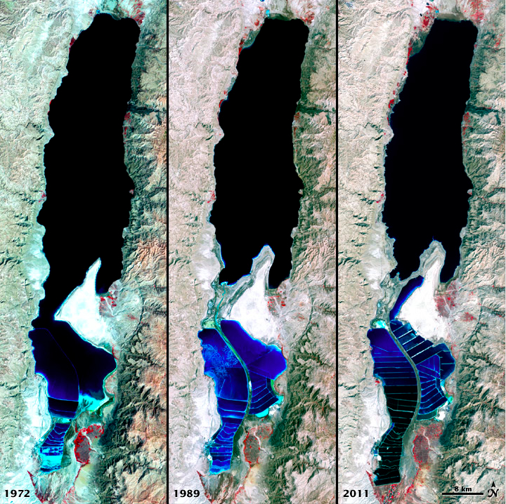 Dead Sea Shrinking (1972, 1989, 2011)