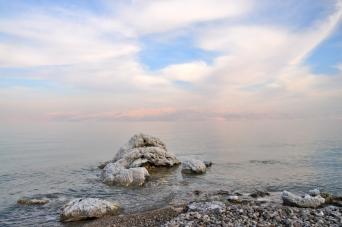 Salt and sky, Dead Sea