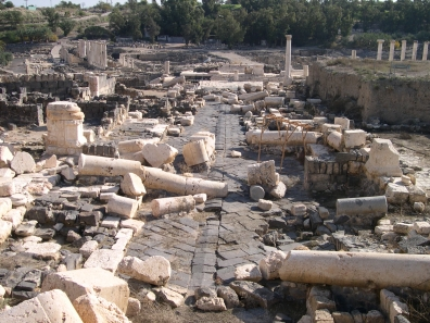 Bet Shean after earthquake