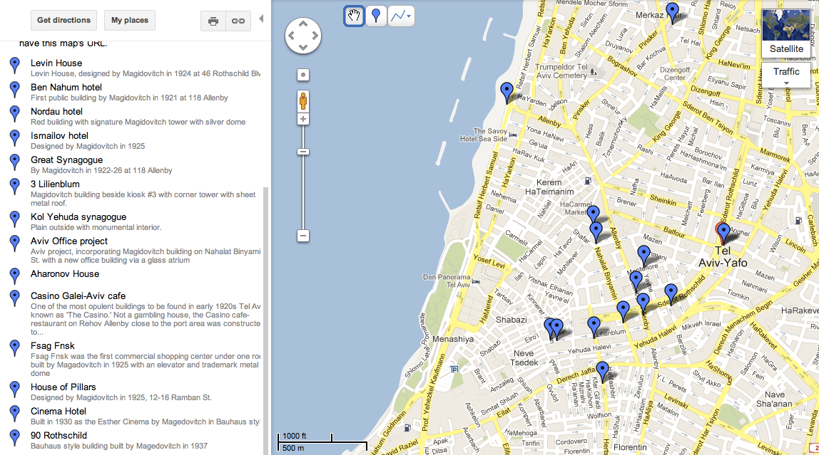 Tel Aviv – Tourist Map Of Tel Aviv