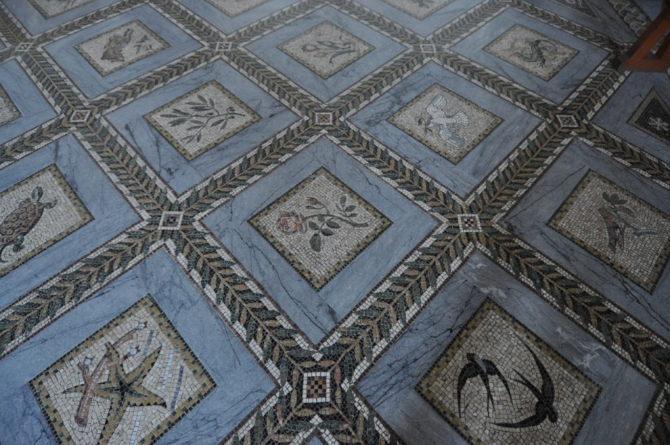 Visitation church mosaic floor