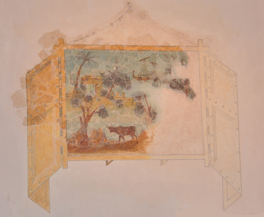 Loggia trompe l'oeil painting