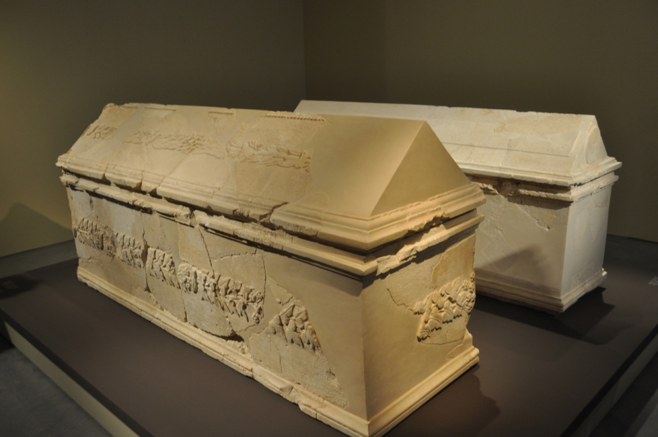 Two sarcophagi