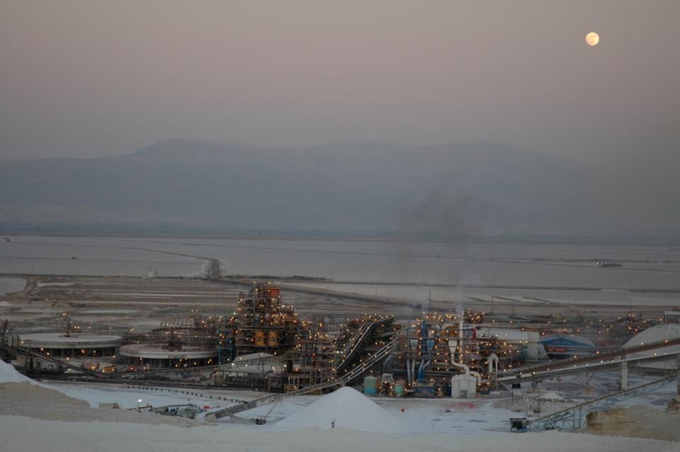 Dead Sea Works Moonrise