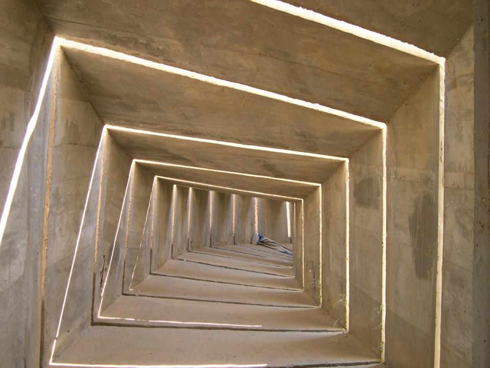 Negev Brigade monument, by Israeli sculptor Dani Karavan
