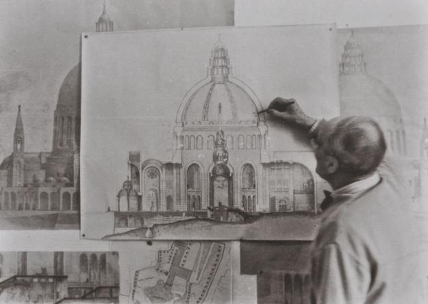 Barluzzi drawing Annunciation