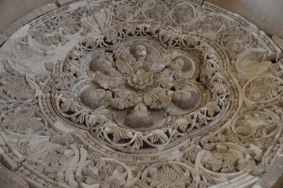 Sculpted ceiling plaster