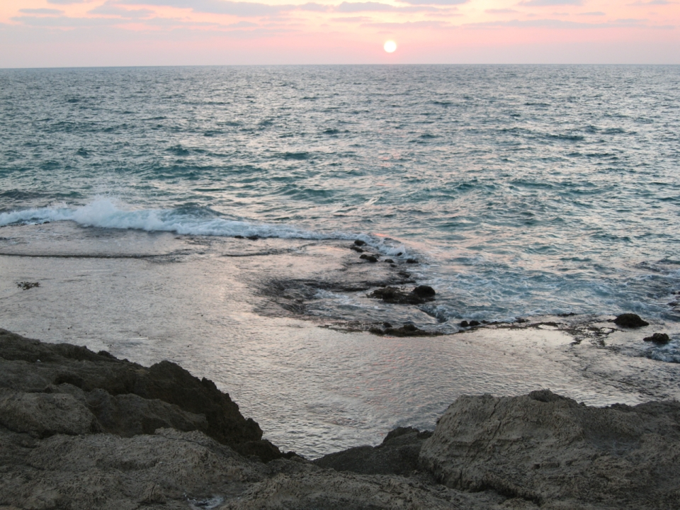 HaBonim beach sunset