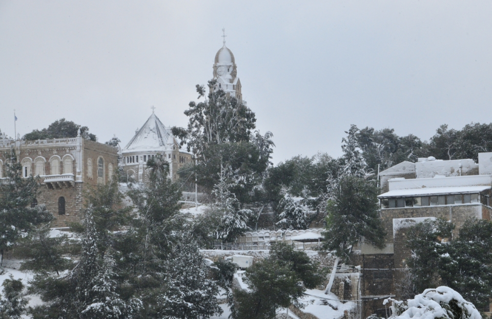 Mount Zion in Snow