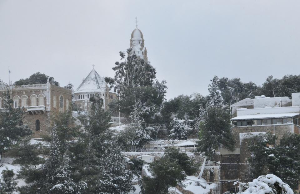 Mount Zion in Snow