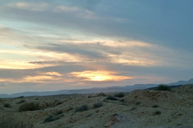 Large Makhtesh sunset
