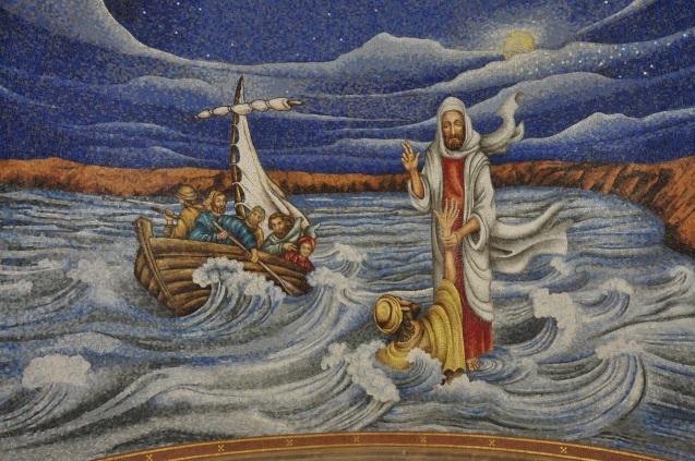 Jesus calming the Sea of Galilee