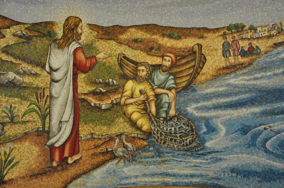 Jesus calling the disciples