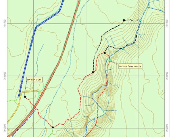 Nahal Yehudia map