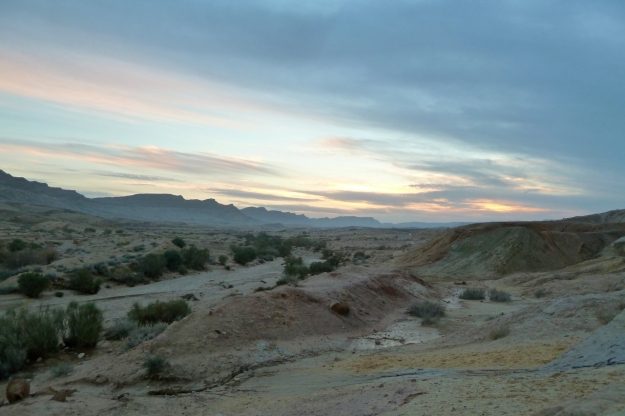 Makhtesh landscape