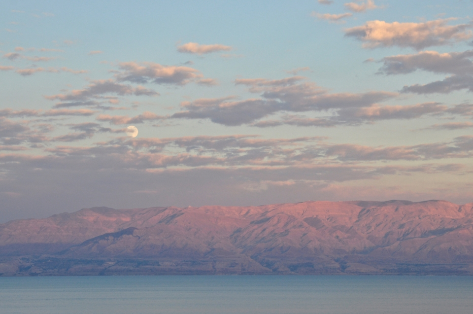 Moonrise over Dead Sea