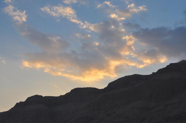 Sun setting Dead Sea