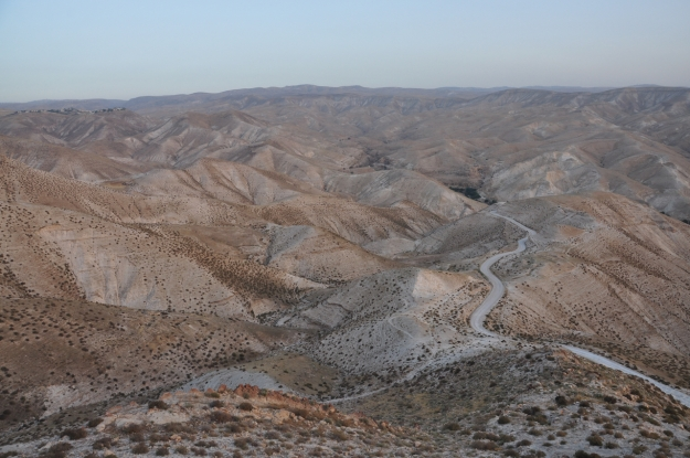 Overlook of Wadi Qelt ISO 250 18mm f/8 1/60 sec.