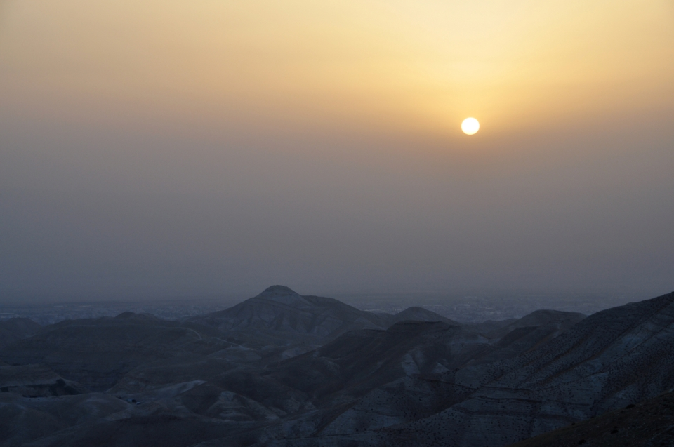 Sunrise Wadi Qelt 65mm, F9 at 1/160 sec.